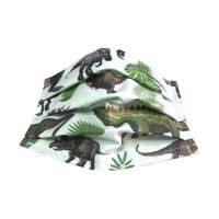 Behelfs-Mund-Nase-Maske Kindermaske Gr. XS Behelfsmaske Mundschutz *Dinosaurier* Baumwollstoff mit Nasenbügel Bild 1