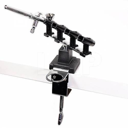 Airbrushhalter (4-fach) aus Metall und Kunststoff, für an den Tisch