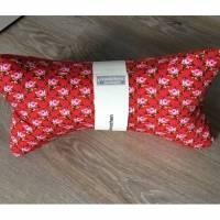 Leseknochen,Nackenrolle,Nackenhörnchen,Nackenstütze rosen rot (31) Bild 1