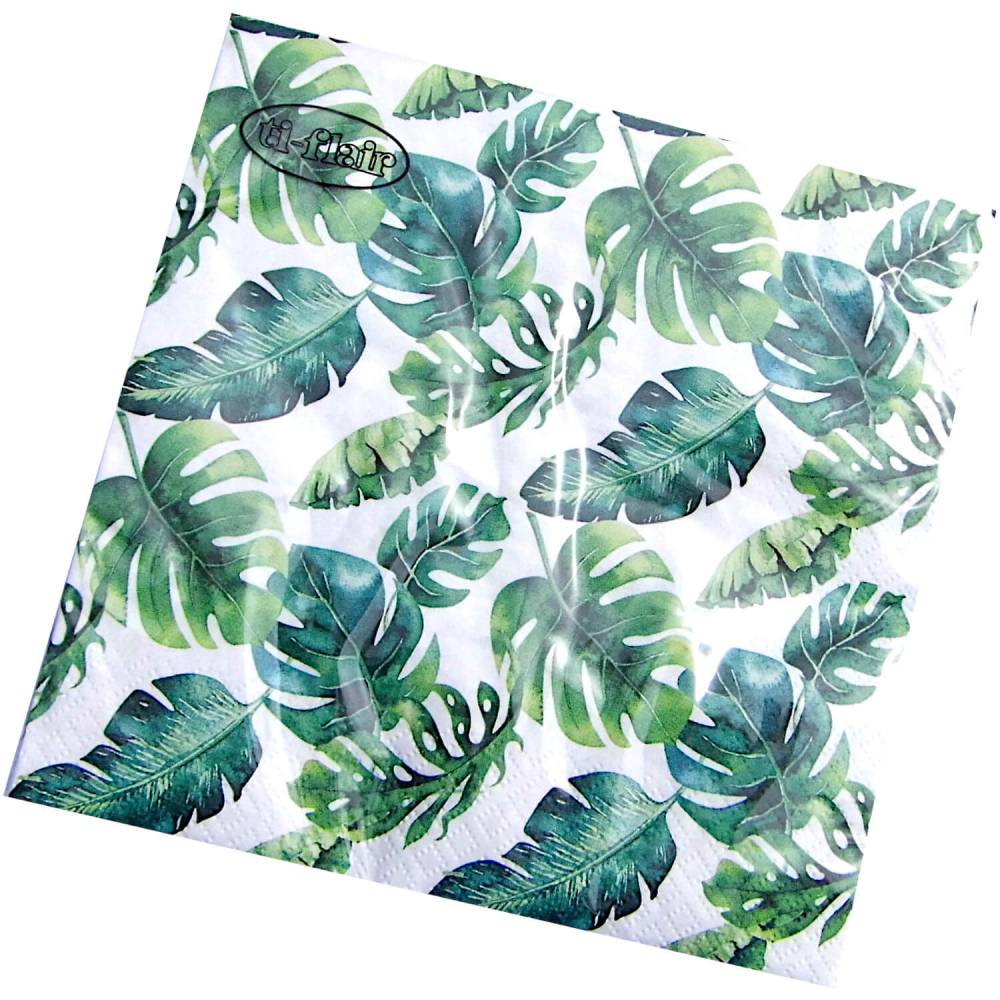 Serviette Dense Jungle Leaves 3-lagig Bild 1