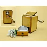 Vintage - Seltene Kaffeemühle Leinbrock´s Ideal 1200 Seitenkurbel Tischmühle Schoßmühle Sammlerstück Bild 1