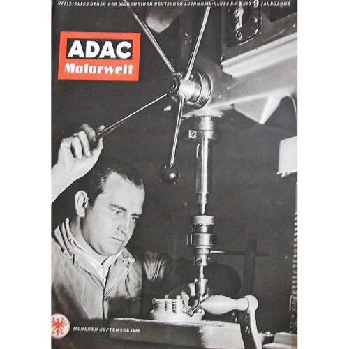 ADAC Motorwelt Heft 9 September 1955 , ca. 81 Seiten mit Testberichten