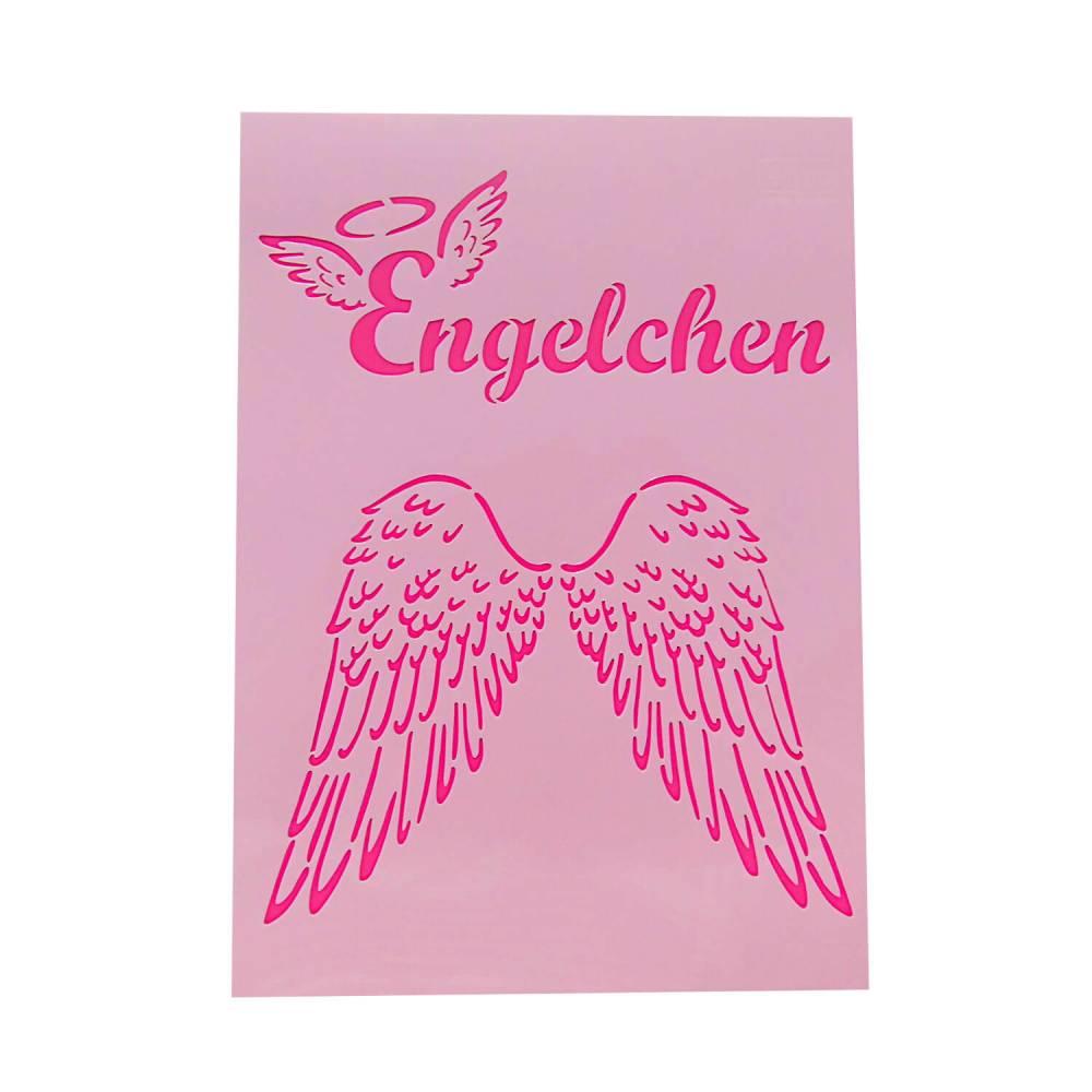 Schablone Engelchen und Engelsflügel Bild 1