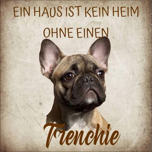 Hundeschild aus Holz Frenchie