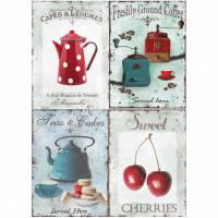 Reispapier - Motiv Strohseide - A4 - Decoupage - Vintage - Shabby -Kaffee - Tee - 19060 Bild 1