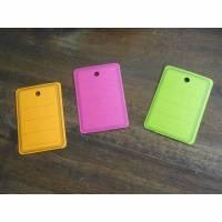 Etiketten Kraftpapier pink grün orange  Tag  Bild 1