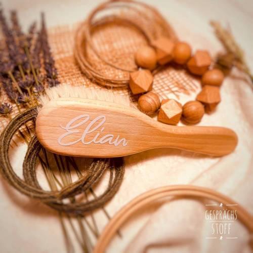 Babybürste mit Namen / Personalisierte Haarbürste / auf Wunsch als Geschenkset mit anderen Produkten