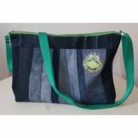 Kindertasche KROKO / Umhängetasche / Schultertasche / Jeanstasche / upcycling Bild 1