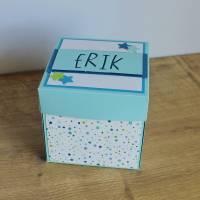 """Explosionsbox, Geldgeschenkverpackung zur Geburt """"Babywiege"""" aus der Manufaktur Karla Bild 7"""