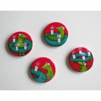 Kühlschrankadvent - 4 Magnete zur Adventszeit, Button Magnete, Adventkalender, Adventkranz, Weihnachten, Advent Magnete