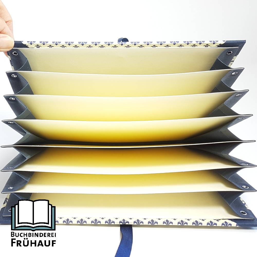 Fächermappe Sammelmappe für DIN A5 stilisierte Lilien Bild 1
