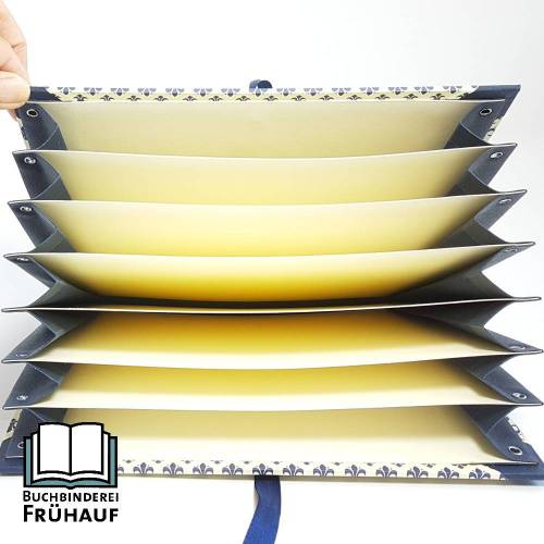 Fächermappe Sammelmappe für DIN A5 stilisierte Lilien