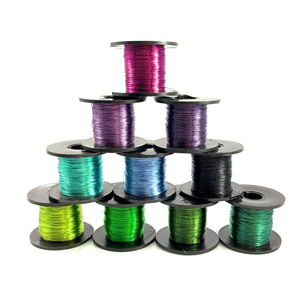 farbiger Kupferdraht 0,315 mm, Rolle 70 m / 50 g - Farbwahl Bild 1