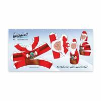 Weihnachtskarte Nikolaus zum Ausschneiden und Zusammenkleben, DIN lang