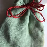 Besticktes, hellgrünes Leinen-Säckchen, Motiv '5 Elemente' inklusive Tarot-Deck und Einsteigerbuch Bild 4