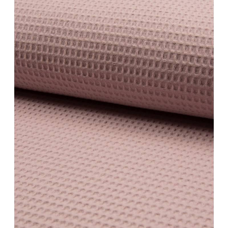 Baumwollstoff Waffelpiqué in der Farbe altrosa 50x150cm Bild 1