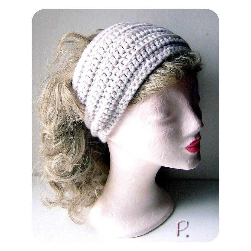 Kopfband; Stirnband; Hutband; Haarband / cremeweiß / Gr.: M - L Bild 1