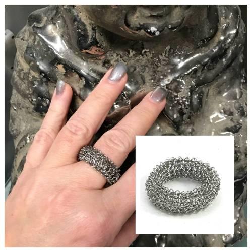 fingergestrickter EDELSTAHL RING