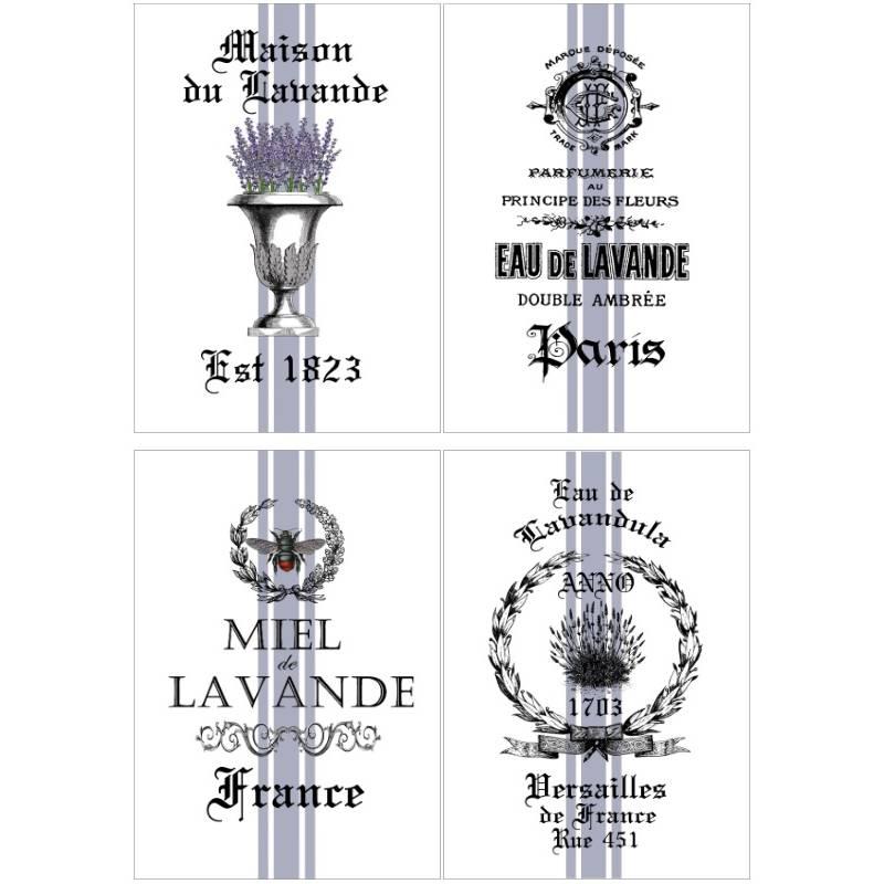 Reispapier - Motiv Strohseide - A4 - Decoupage - Vintage - Shabby -Lavender - 19061 Bild 1