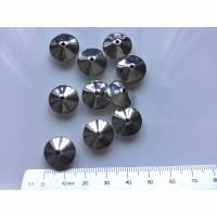 10 Metallperlen silberfarben 1,5 x 1 cm Bild 1