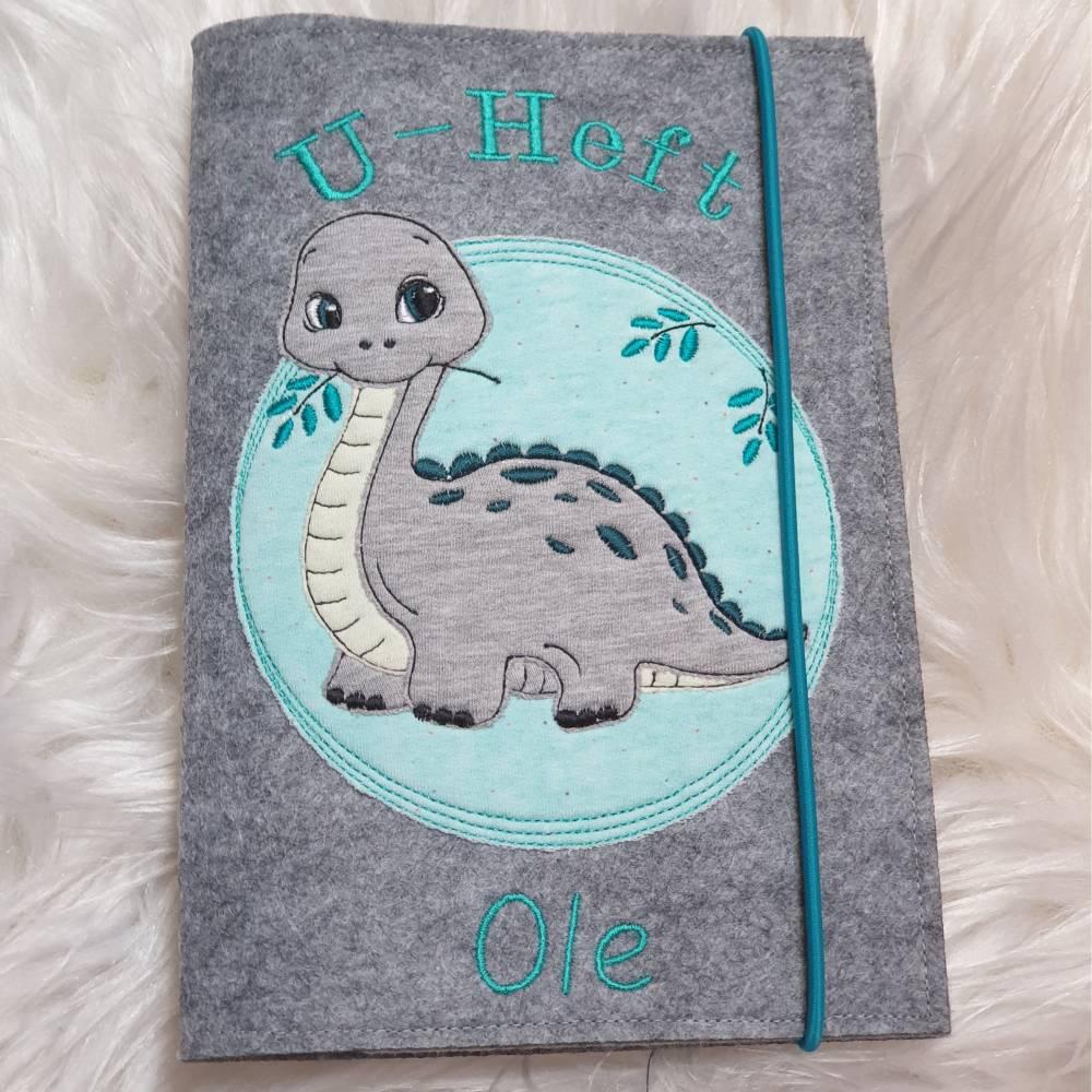 U-Heft Hülle Dino/Filzhülle Untersuchungsheft Bild 1