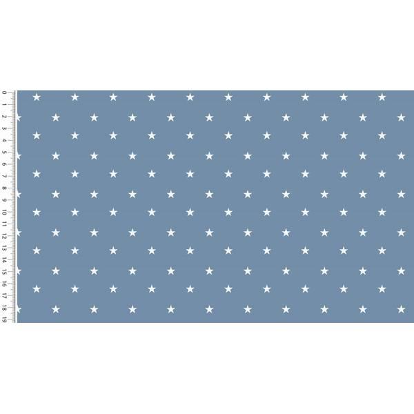 Webware Popeline kleine Sterne jeansblau Bild 1