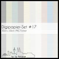 Digipapier Set #17 (Querstreifen) zum ausdrucken, plotten, scrappen, basteln und mehr Bild 1