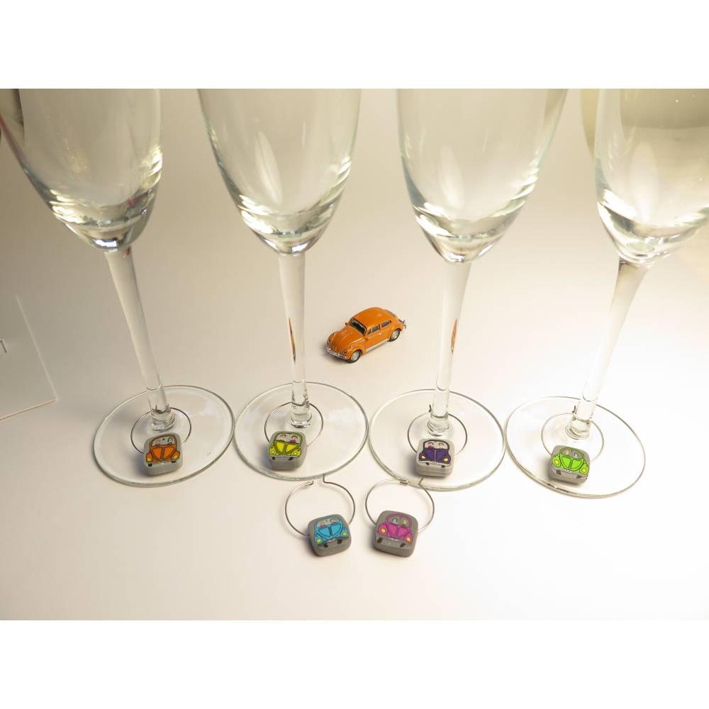 Weinglasmarkierer bunte Autos Bild 1