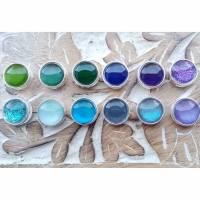 Bunte handgemalte Slider für 10mm breite Armbänder in 12 verschiedenen Farben Blau Lila Grün Töne Bild 1
