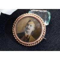 Vintage Fotobrosche um 1920, Bild Brosche, Foto Schmuck, Andenken Schmuck, Trödel Dings da Bild 1