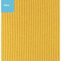 Strick Stoff Farbe Orche gelb Bild 1