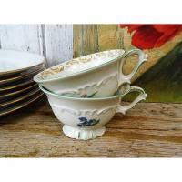 2 Tassen / Porzellan / Kaffeetassen / Bavaria Sammeltasse / romantisches Geschirr Bild 1