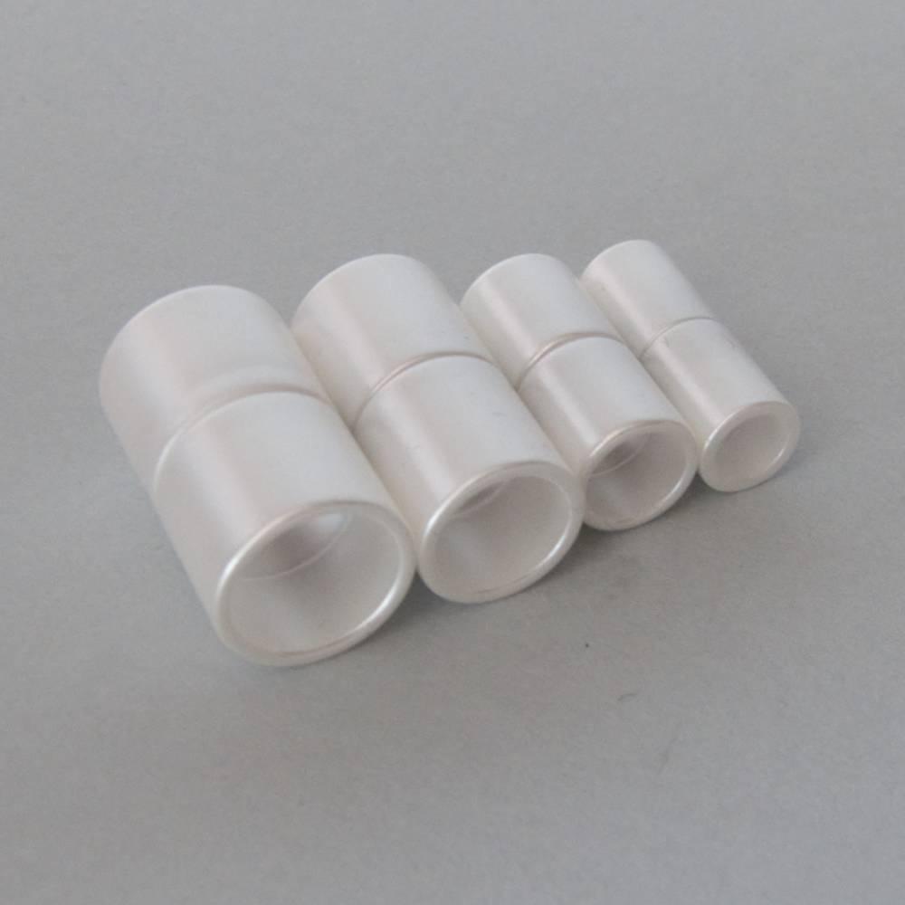 Magnetverschluss Zylinder, Farbe wachsweiß, Bohrung 6, 8, 10 oder 12 mm, für die Schmuckherstellung, zum Einkleben Bild 1