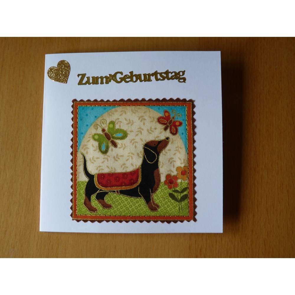 Geburtstagskarte mit Hund Grußkarte Bild 1