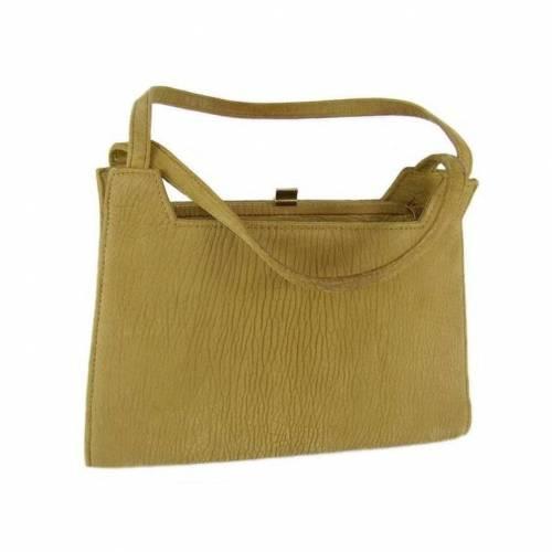 Vintage Handtasche in Sandfarben, Damentasche, Retro, Sammlerstück, seltenes Fundstück, hellbraun, 60er, 70er