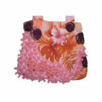 Tasche Blüten Bommel rosa romantisch Bild 1