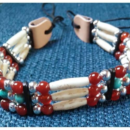 Hutband oder Choker, Edelstein-Perlen (CH 26)
