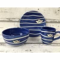 DIY Paket Tasse,Schale und Teller Boot, Keramik zum abholen am Laden Bild 1