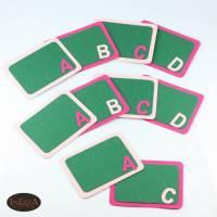 RESERVIERT Tischdeko zur Einschulung 10 Teile Schulanfang Tafel Tischkarten Rosa Pink