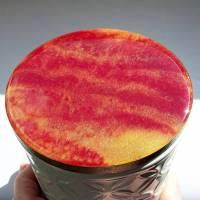 Keramikdose mit Resindeckel Bild 1