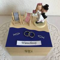 Geldgeschenk Hochzeit Flitterwochen Reise Urlaub Strand Meer Hochzeitsreise Hochzeitsgeschenk maritim Brautpaar Geld schenken Bild 1