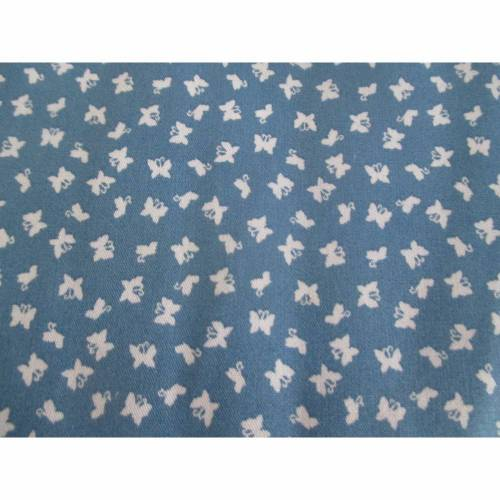 Baumwolle Baumwollstoff Popeline kleine Schmetterlinge jeansblau Oeko-Tex® Standard 100 (1m/8,-€)