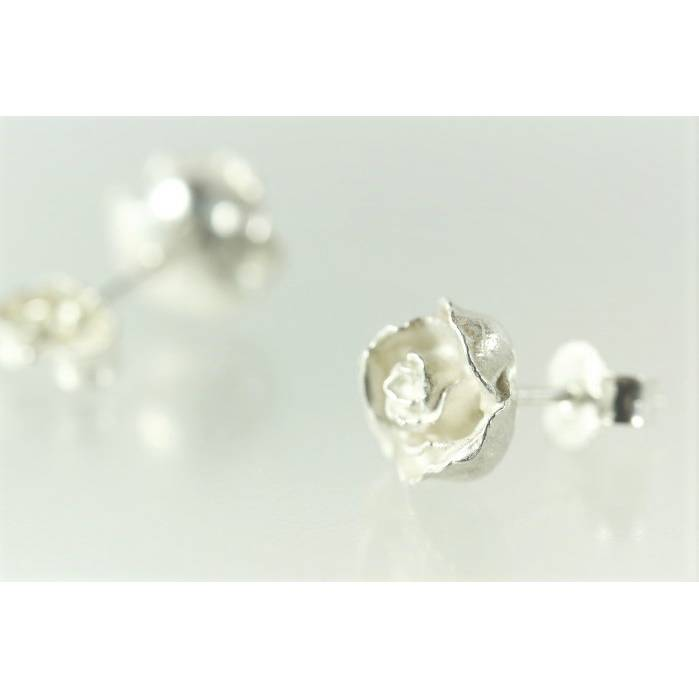 Rosenblüten Ohrringe aus Silber 925 Bild 1