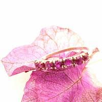 Zierlicher Vintage Ring mit pinkfarbenen Rubinen Bild 1