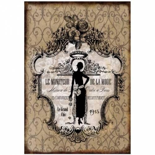 Bastelpapier - Decoupage-Papier - A4 - Softpapier - Vintage - Shabby - Mode - 12777