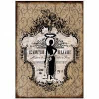 Bastelpapier - Decoupage-Papier - A4 - Softpapier - Vintage - Shabby - Mode - 12777 Bild 1