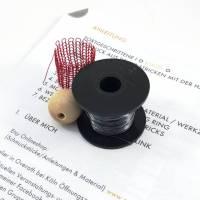 ANLEITUNGS-SET Fortgeschrittene I - KUGEL - Schmuck aus Draht stricken / deutsche Schritt-für-Schritt Anleitung inkl. Material Bild 1