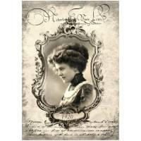Bastelpapier - Decoupage-Papier - A4 - Softpapier - Vintage - Shabby - Victorian - Woman - Frau - 12739 Bild 1