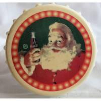 Coca-Cola- Flaschenöffner-Weihnachtsmann Metall/Kunststoff Bild 1