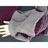 Pulswärmer, fingerlose Handschuhe, ohne Daumenloch, weiche Merinowolle, gestrickt Bild 1